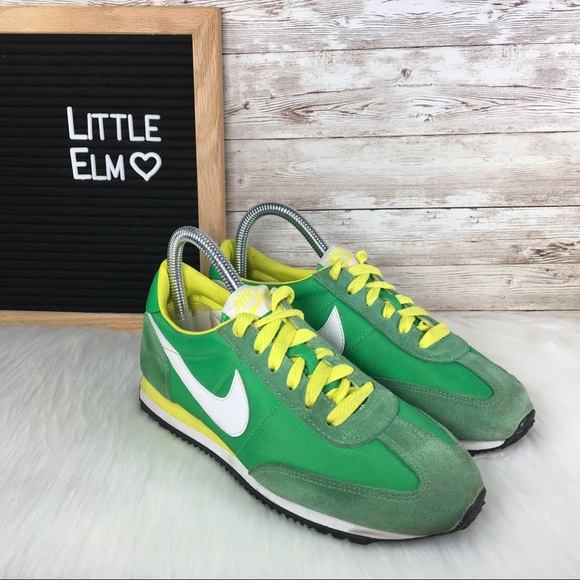 new product cba6d ccd3b Nike Cortez Classic Women's Sneaker Green Yellow